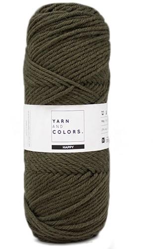 Yarn and Colors Maxi Cardigan Crochet Kit 11 S/M Khaki