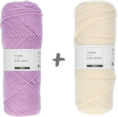 Dream Roll Cushion 4.0 Crochet Kit 09 Orchid & Cream