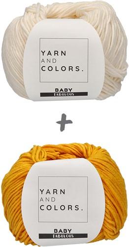 Baby Blanket Fabulous Gradient Crochet Kit 1 Cream/Mustard