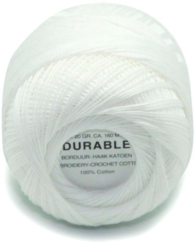 Durable Embroidery and Crochet cotton 1000 White