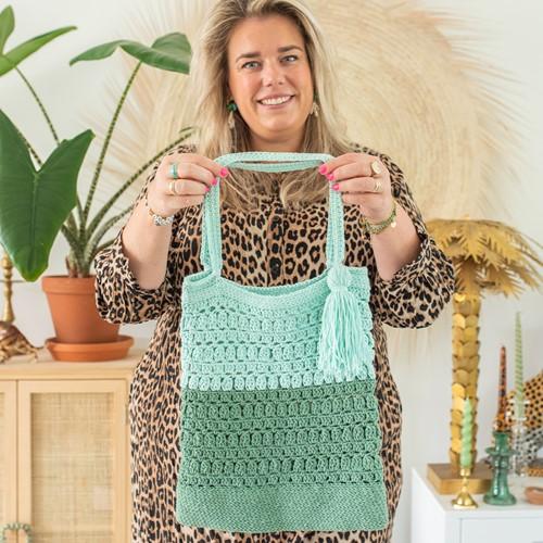 Crochet Pattern Happy Handmade Bag