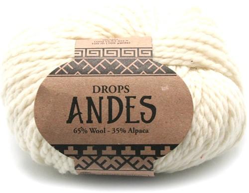 Drops Andes Uni Colour 100 Off White