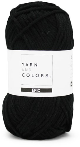 Yarn and Colors Epic 100 Black