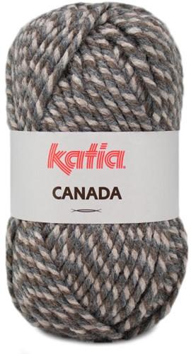 Katia Canada 100 Brown - Beige - Dark grey