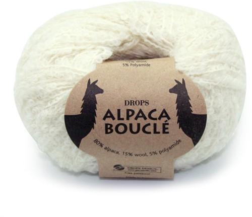 Drops Alpaca Bouclé Uni Colour 100 Off White