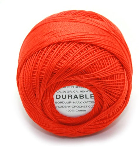 Durable Embroidery and Crochet cotton 1010 Dark Orange