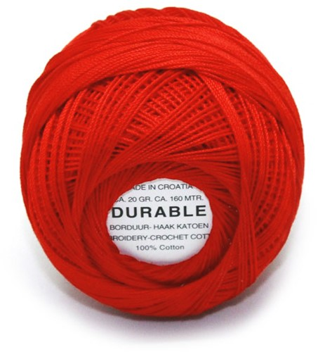 Durable Embroidery and Crochet cotton 1011 Light Red
