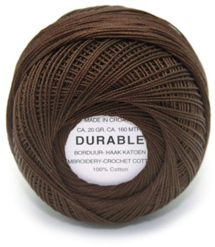 Durable Embroidery and Crochet cotton 1012 Dark Brown