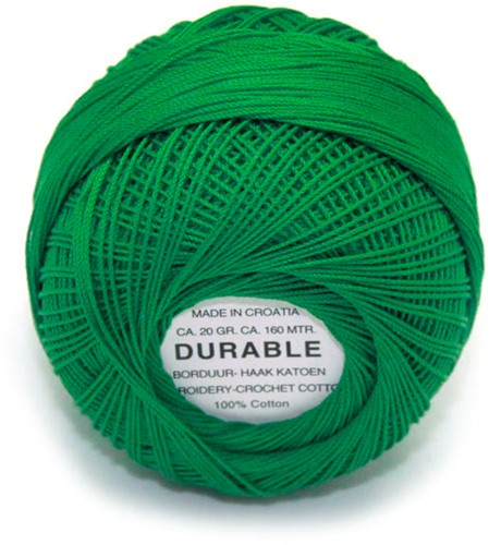 Durable Embroidery and Crochet cotton 1015 Green