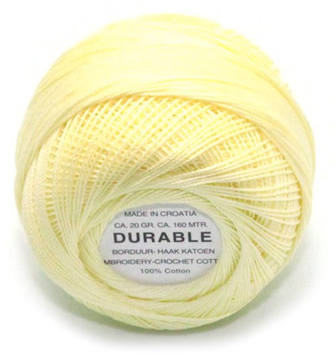 Durable Embroidery and Crochet cotton 1023 Light Yellow