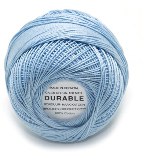Durable Embroidery and Crochet cotton 1030 Light Steel Blue