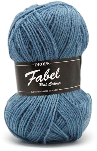 Drops Fabel Uni Colour 103 Grey-Blue