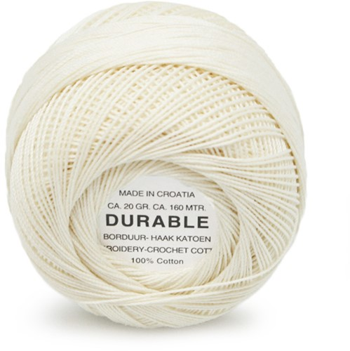 Durable Embroidery and Crochet cotton 1043 Cream