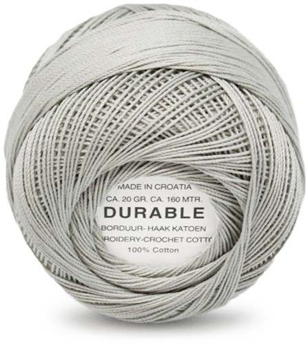 Durable Embroidery and Crochet cotton 1044 Light Grey