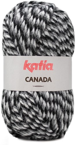Katia Canada 105 Black - Dark grey - Grey