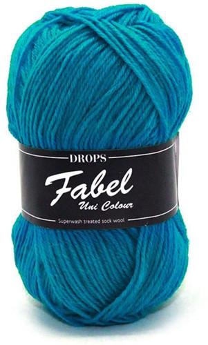 Drops Fabel Uni Colour 105 Turquoise