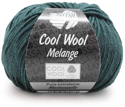 Lana Grossa Cool Wool Melange 107 Petrol Mottled