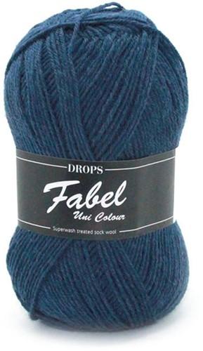 Drops Fabel Uni Colour 107 Blue