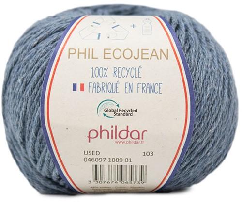 Phildar Phil Ecojean 1089 Light Blue