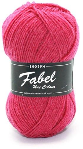Drops Fabel Uni Colour 109 Dark Pink