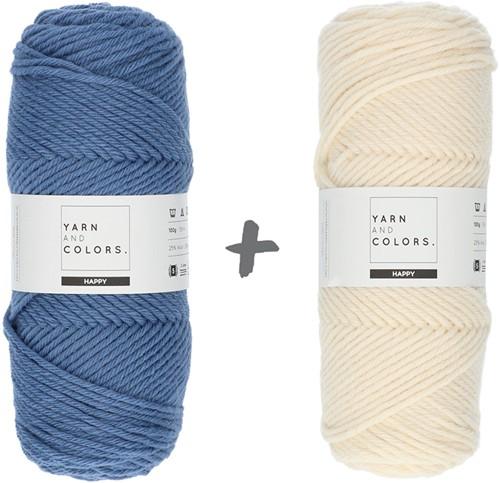 Dream Roll Cushion 4.0 Crochet Kit 10 Denim & Cream