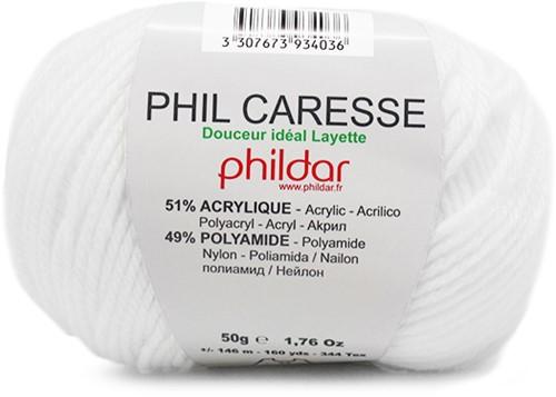 Phildar Phil Caresse 1225 Blanc