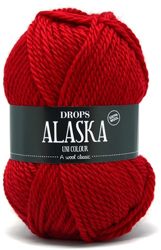 Drops Alaska Uni Colour 10 Red