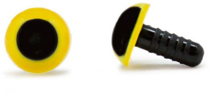 Safety Eyes Yellow 10mm per pair