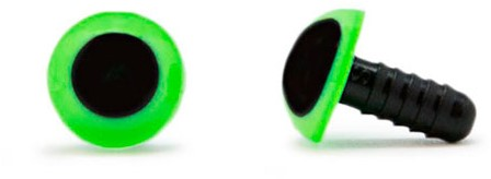 Safety Eyes Green 10mm per pair