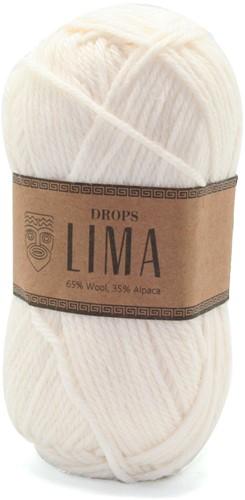 Drops Lima Uni Colour 1101 White