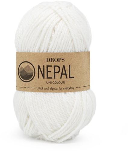 Drops Nepal Uni Colour 1101 Wit