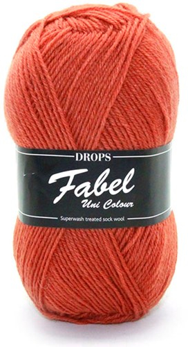 Drops Fabel Uni Colour 110 Rust