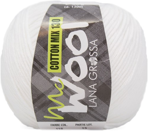 Lana Grossa Cotton Mix 130 116 White
