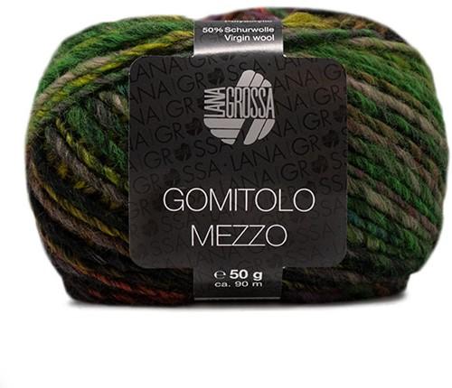 Lana Grossa Gomitolo Mezzo 118 Green / Sering / Tomato / Black-Green / Light Green / Orange