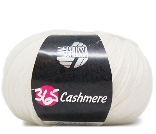 Lana Grossa 365 Cashmere 11 Raw White