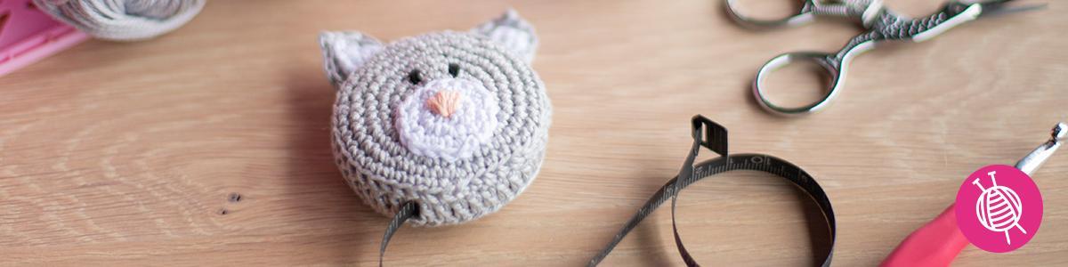 Cat Tape Measure Cover - Free Crochet Pattern