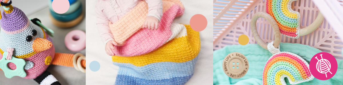 Suitable Materials for Baby Projects: Yarn, Notions and Accessories
