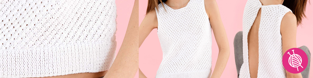 Summer Top in Daisy Stitch - Free Pattern