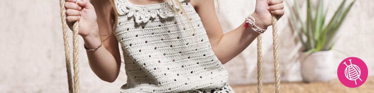 Crochet a girls top - Free Crochet Pattern