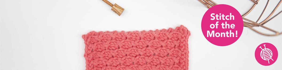 Stitch of the Month: Knitting Honeycomb Stitch