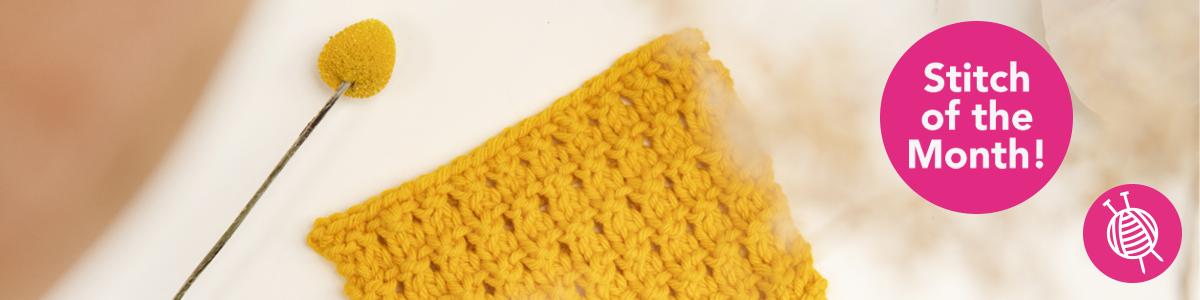 Stitch of the Month: Knitting Diamond Stitch