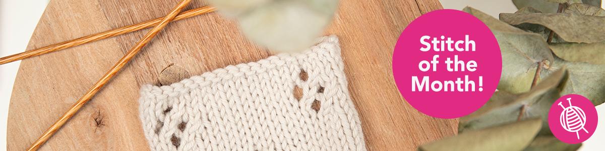 Stitch of the Month: Knitting Diamond Lace