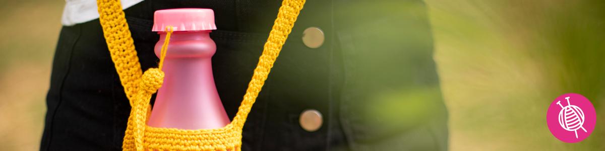 Free Crochet Pattern: Water Bottle Holder