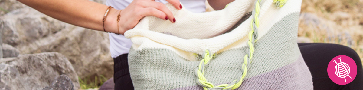 Knitted Tote Bag - Free Pattern