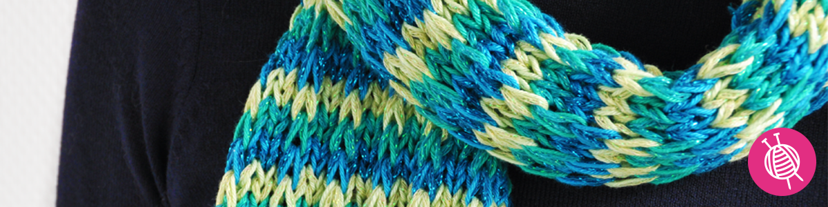 Knit a byClaire Sparkle Scarf