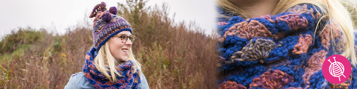 Katia Azteca Snood and Hat - Free Pattern