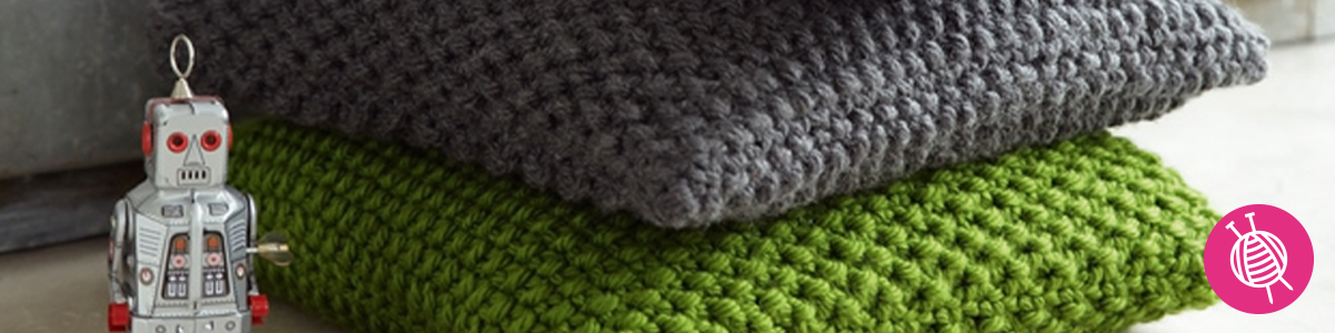 Knitted Pillow made with Phil Express