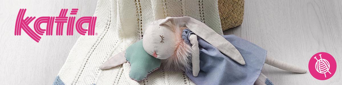 Katia Fair Cotton Craft Baby Blanket - Free Knitting Pattern