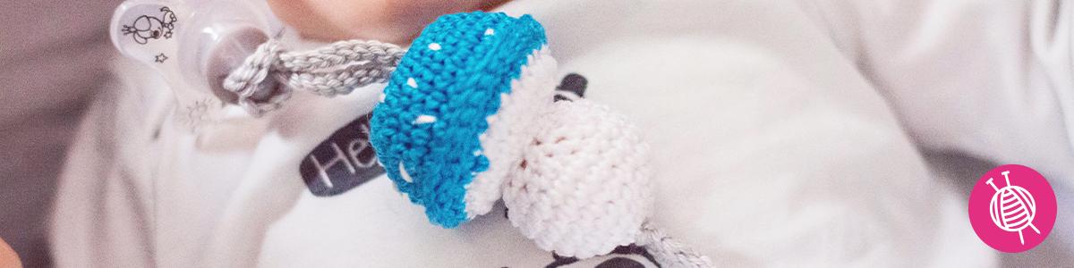 Crocheted Pacifier Holder - Free Crochet Pattern