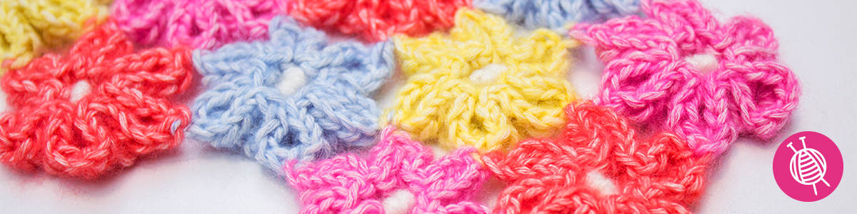 Funny Flowers - Learn how to crochet a flower!